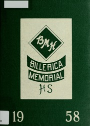 Page 1, 1958 Edition, Billerica Memorial High School - BMHS Yearbook (Billerica, MA) online yearbook collection