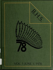 1978 Edition, Billerica Memorial High School - BMHS Yearbook (Billerica, MA)