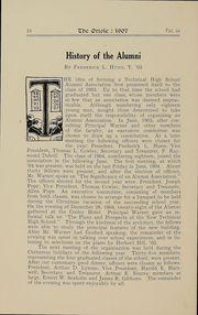 Page 15, 1907 Edition, Technical High School - Tech Tiger Yearbook (Springfield, MA) online yearbook collection