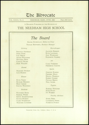 Page 7, 1931 Edition, Needham High School - Advocate Yearbook (Needham, MA) online yearbook collection
