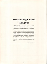 Page 6, 1965 Edition, Needham High School - Advocate Yearbook (Needham, MA) online yearbook collection