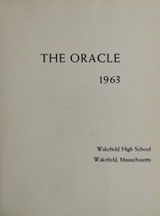 Page 5, 1963 Edition, Wakefield High School - Oracle Yearbook (Wakefield, MA) online yearbook collection
