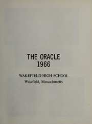 Page 5, 1966 Edition, Wakefield High School - Oracle Yearbook (Wakefield, MA) online yearbook collection