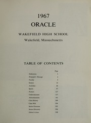 Page 3, 1967 Edition, Wakefield High School - Oracle Yearbook (Wakefield, MA) online yearbook collection