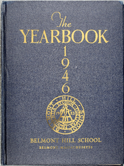 1946 Edition, Belmont Hill School - Belmont Hill School Yearbook (Belmont, MA)