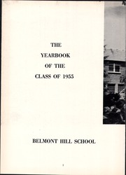 Page 6, 1955 Edition, Belmont Hill School - Belmont Hill School Yearbook (Belmont, MA) online yearbook collection
