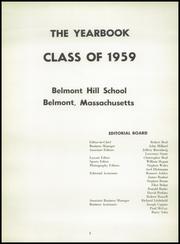 Page 7, 1959 Edition, Belmont Hill School - Belmont Hill School Yearbook (Belmont, MA) online yearbook collection