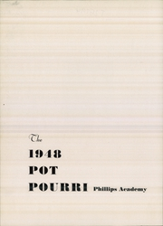 Page 6, 1948 Edition, Phillips Academy - Pot Pourri Yearbook (Andover, MA) online yearbook collection