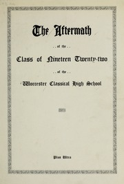 Page 7, 1922 Edition, Classical High School - Classic Myths Yearbook (Worcester, MA) online yearbook collection