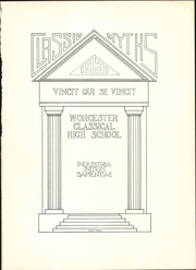 Page 5, 1931 Edition, Classical High School - Classic Myths Yearbook (Worcester, MA) online yearbook collection