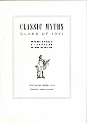 Page 5, 1941 Edition, Classical High School - Classic Myths Yearbook (Worcester, MA) online yearbook collection