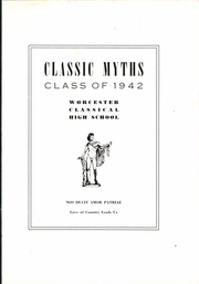 Page 5, 1942 Edition, Classical High School - Classic Myths Yearbook (Worcester, MA) online yearbook collection