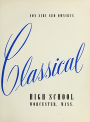 Page 5, 1954 Edition, Classical High School - Classic Myths Yearbook (Worcester, MA) online yearbook collection
