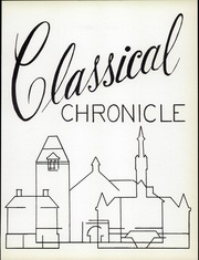 Page 15, 1966 Edition, Classical High School - Classic Myths Yearbook (Worcester, MA) online yearbook collection