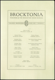 Page 5, 1935 Edition, Brockton High School - Brocktonia Yearbook (Brockton, MA) online yearbook collection
