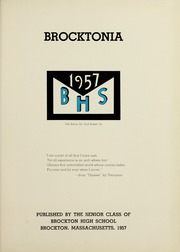 Page 5, 1957 Edition, Brockton High School - Brocktonia Yearbook (Brockton, MA) online yearbook collection