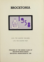 Page 5, 1958 Edition, Brockton High School - Brocktonia Yearbook (Brockton, MA) online yearbook collection