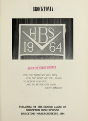 Page 5, 1964 Edition, Brockton High School - Brocktonia Yearbook (Brockton, MA) online yearbook collection