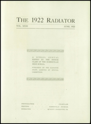 Page 7, 1922 Edition, Somerville High School - Radiator Yearbook (Somerville, MA) online yearbook collection