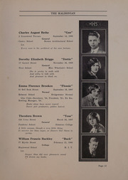 Page 17, 1926 Edition, Malden High School - Maldonian Yearbook (Malden, MA) online yearbook collection