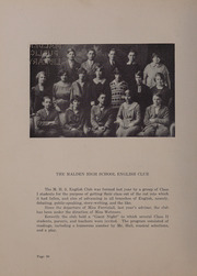 Page 84, 1926 Edition, Malden High School - Maldonian Yearbook (Malden, MA) online yearbook collection