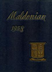 1958 Edition, Malden High School - Maldonian Yearbook (Malden, MA)