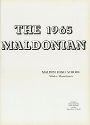 Page 5, 1965 Edition, Malden High School - Maldonian Yearbook (Malden, MA) online yearbook collection