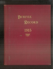 1915 Edition, Durfee High School - Durfee Record Yearbook (Fall River, MA)