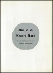Page 5, 1954 Edition, Durfee High School - Durfee Record Yearbook (Fall River, MA) online yearbook collection