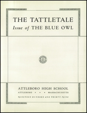 Page 5, 1939 Edition, Attleboro High School - Tattletale Yearbook (Attleboro, MA) online yearbook collection