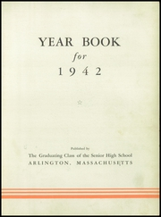 Page 7, 1942 Edition, Arlington High School - Yearbook (Arlington, MA) online yearbook collection