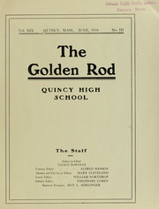 Page 3, 1910 Edition, Quincy High School - Goldenrod Yearbook (Quincy, MA) online yearbook collection