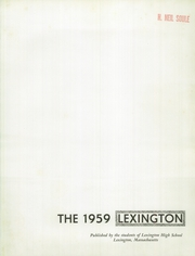 Page 5, 1959 Edition, Lexington High School - Lexington Yearbook (Lexington, MA) online yearbook collection