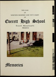 Page 5, 1958 Edition, Everett High School - Memories Yearbook (Everett, MA) online yearbook collection