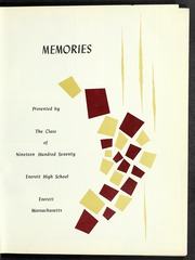 Page 5, 1970 Edition, Everett High School - Memories Yearbook (Everett, MA) online yearbook collection