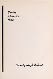Page 7, 1938 Edition, Beverly High School - Beverlega Yearbook (Beverly, MA) online yearbook collection