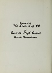 Page 16, 1955 Edition, Beverly High School - Beverlega Yearbook (Beverly, MA) online yearbook collection
