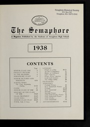 Page 3, 1938 Edition, Stoughton High School - Stotonian / Semaphore Yearbook (Stoughton, MA) online yearbook collection