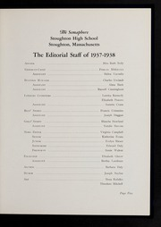 Page 7, 1938 Edition, Stoughton High School - Stotonian / Semaphore Yearbook (Stoughton, MA) online yearbook collection
