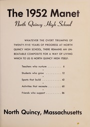 Page 5, 1952 Edition, North Quincy High School - Manet Yearbook (North Quincy, MA) online yearbook collection
