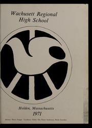 Page 5, 1971 Edition, Wachusett Regional High School - Wachusett Yearbook (Holden, MA) online yearbook collection