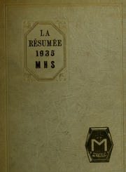 Page 1, 1935 Edition, Methuen High School - Memories Yearbook (Methuen, MA) online yearbook collection