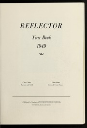Page 9, 1949 Edition, Weymouth High School - Reflector Yearbook (Weymouth, MA) online yearbook collection