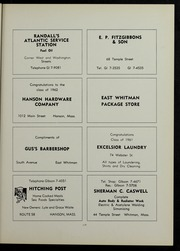 Page 121, 1963 Edition, Whitman Hanson Regional High School - Retrospect Yearbook (Whitman, MA) online yearbook collection