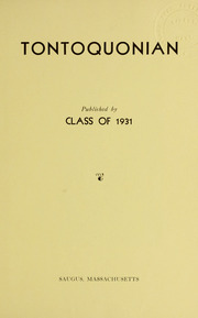 Page 7, 1931 Edition, Saugus High School - Tontoquonian Yearbook (Saugus, MA) online yearbook collection