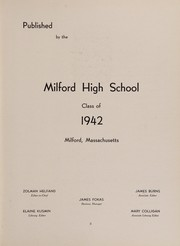Page 7, 1942 Edition, Milford High School - Oak Lily and Ivy Yearbook (Milford, MA) online yearbook collection