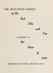 Page 5, 1953 Edition, Milford High School - Oak Lily and Ivy Yearbook (Milford, MA) online yearbook collection