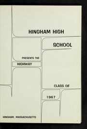 Page 5, 1967 Edition, Hingham High School - Highway Yearbook (Hingham, MA) online yearbook collection
