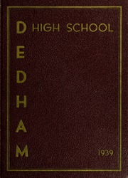 Page 1, 1939 Edition, Dedham High School - Reflections Yearbook (Dedham, MA) online yearbook collection