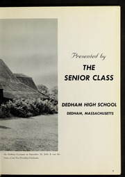 Page 5, 1963 Edition, Dedham High School - Reflections Yearbook (Dedham, MA) online yearbook collection